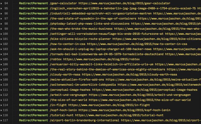 Weiterleitung für WordPress-URLs bei Permalink-Änderung