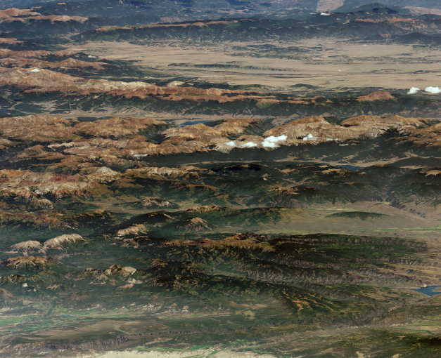The American Landscape, From Space: Denver, the Rockies, and Colorado Captured by DigitalGlobe's Satellite