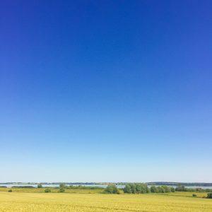 Am Westufer des Kummerower Sees zeigt sich die Landschaft von ihrer besten Seite.