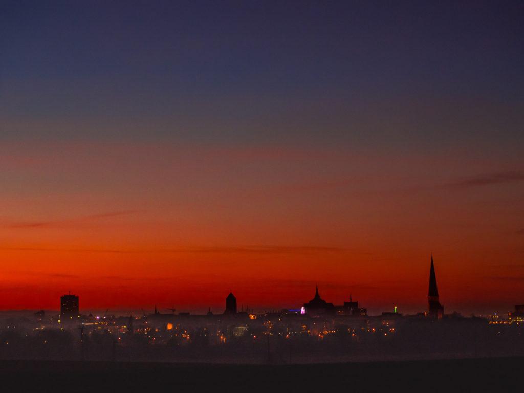 Hansestadt Rostock - Sonnenuntergang