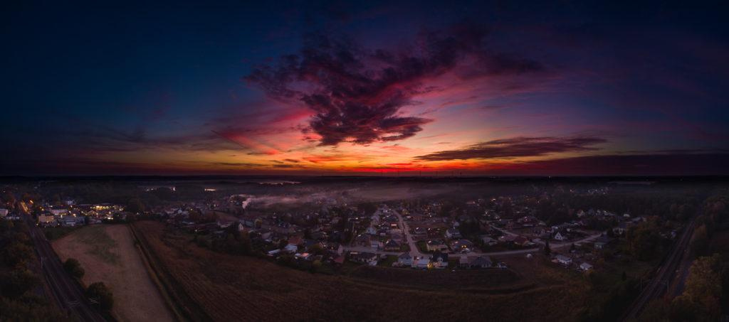 Sonnenuntergang über Bestensee-Nord, 2018-10-09